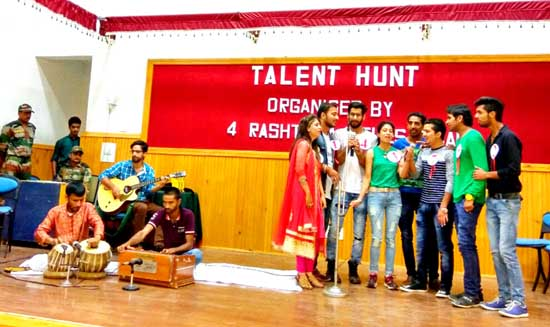 Finalists of 'Talent Hunt' presenting a medley during finale of the competition.