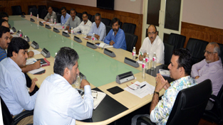 Minister for CA&PD Ch Zulfkar reviewing supply position in Kashmir valley.