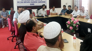 General body meeting of Diploma Engineers Association being held at Jammu on Wednesday.