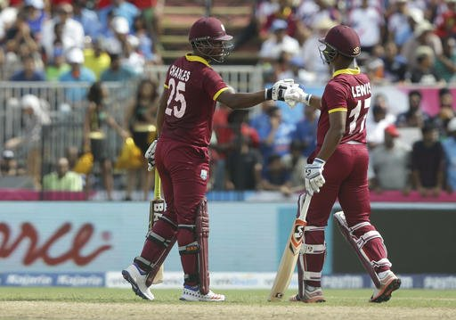West Indies score a mammoth 245-6 against India in 1st T20I