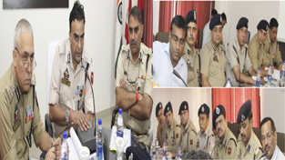 IGP, Jammu Zone, Danish Rana reviewing security arrangements for Independence Day celebrations.