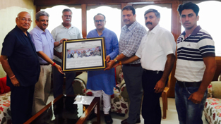 Delegation of PHDCCI Jammu Committee handing over a memorandum to the Deputy Chief Minister Dr Nirmal Singh on Saturday.