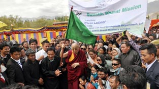 Dalai Lama launching cleanliness drive on Wednesday.