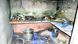A view of damage caused by cylinder blast. -Excelsior/ Rakesh