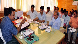 Minister for FCS&CA, Choudhary Zulkfar Ali reviewing functioning of Legal Metrology Department on Wednesday.