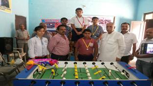 MP Rajya Sabha Shamsher Singh Manhas during inauguration of 5th District Table Soccer Championship.