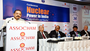 "Union Minister Dr Jitendra Singh delivering the inaugural address at the conference on ""Nuclear Power in India"" organized by ASSOCHAM at New Delhi."
