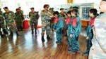 GOC 14 Corps, Lt Gen PJS Pannu  flagging off educational tour of Nubra students during function at Leh on Saturday.