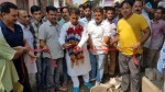 MLA Kathua Rajiv Jasrotia laying foundation stone of developmental projects on Saturday.