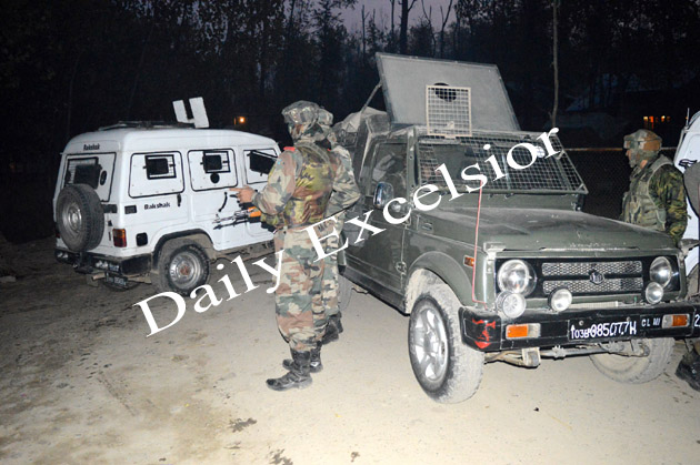 Army carries out search operation near PDP minister's house after militants's attack at Bijbehara…Excelsior|Sajad Dar