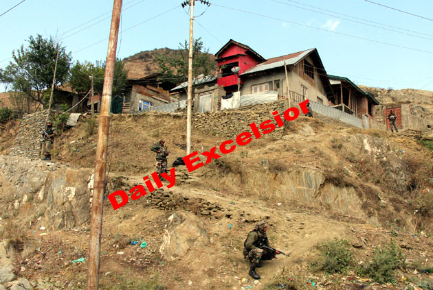 Search operation underway by Army and Police   at  Drangbal  in Baramulla on Friday …Excelsior\Photo