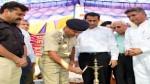 DIG Jammu – Kathua range, Ashkoor Ahmed Wani lighting ceremonial lamp to inaugurate Mega Disability Board Camp.