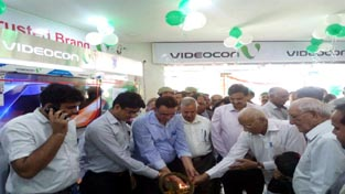 Videocon showroom being inaugurated in Udhampur on Tuesday.