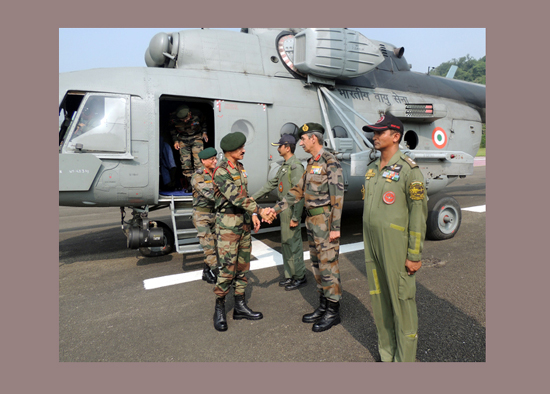 Army chief Gen Dalbir Singh Suhag at Northern Command Headquarters in Udhampur on Saturday.