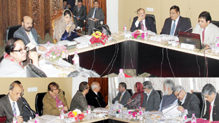 Chief Minister Mehbooba Mufti chairing 43rd SKIMS Governing Body meeting at Srinagar.