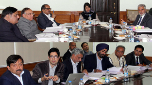 Chief Minister, Mehbooba Mufti chairing 72nd meeting of Board of Directors of JKSPDC at Srinagar on Saturday.