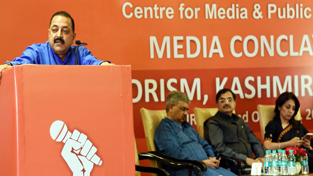 Union Minister Dr Jitendra Singh addressing the valedictory session as, chief guest, at the one-day conclave on