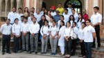 Students & faculty members of ICccR & HRM posing for a group photograph during Heritage Walk to Mubarak Mandi on Wednesday.