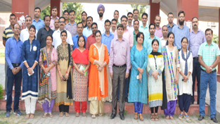 Participants of short term course in SMVDU posing for group photograph.