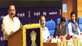 Union Minister Dr Jitendra Singh delivering the prestigious Sardar Patel Memorial Annual Lecture at National Media Centre, New Delhi on Friday.