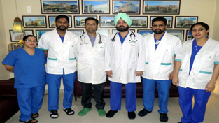 Senior Cardiologist, Fortis Hospital Ludhiana and his team of doctors at the launch of Heart Failure Clinic.