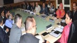 Minister of State for Horticulture Priya Sethi chairing a meeting at Srinagar on Tuesday.
