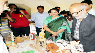 Education Minister Naeem Akhtar during an event organised by RMSA on Wednesday.