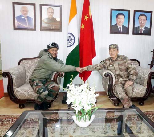 India and China Army officials meeting in Eastern Ladakh on Monday.