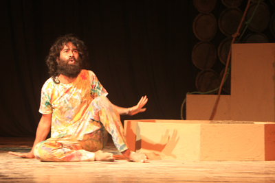 A scene from Assamese play 'Life Canvas' staged by Sarsa