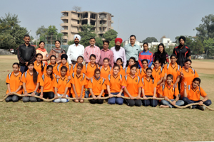 State Tug-of War teams posing for a group photograph alongwith office bearers and officials of Association.