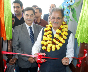 Speaker, State Assembly Kavinder Gupta inaugurating Alakh Wellness Centre at Channi Himmat on Thursday. —Excelsior/Rakesh