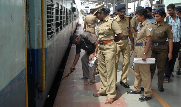 Women constables escort ladies special trains