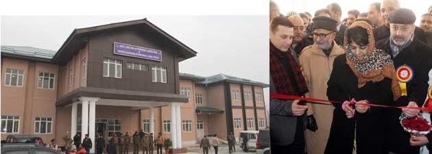 Mehbooba inaugurates Physical Education College at Ganderbal, bridge at Fatehpora