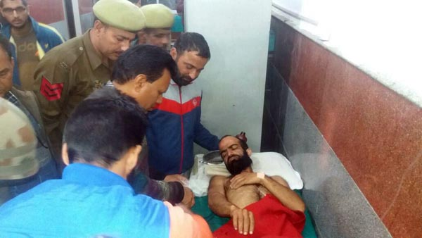 Pakistani intruder admitted in Poonch hospital on Monday. -Excelsior/Harbhajan
