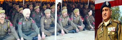 DGP K Rajendra Kumar addressing police durbar on Wednesday.