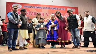 Kashmiri artists during Gaashtarukh function at New Delhi.