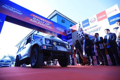 Arunachal Pradesh Chief Minister, Pema Khandu flagging off Maruti Suzuki Rally from Itanagar on Wednesday.