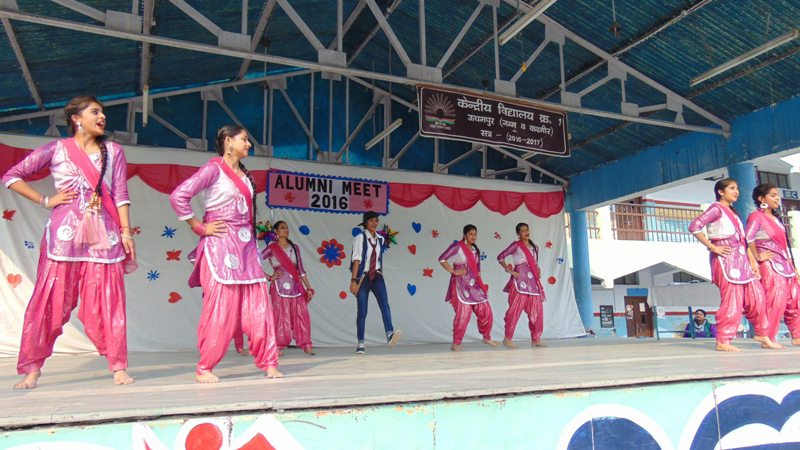 Cultural items being presented by the students during Alumni Meet at KV-1 Udhampur.