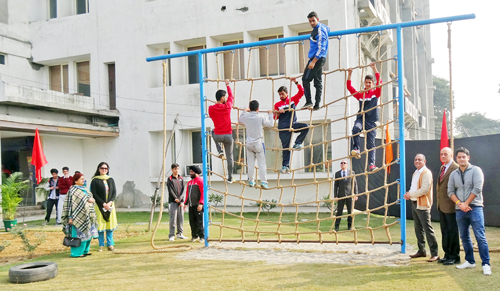 outdoor gym inaugurated at kc sports club