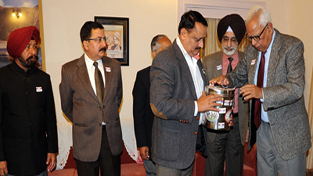 Governor NN Vohra contributing towards Armed Forces Flag Day Fund at Raj Bhavan on Wednesday.