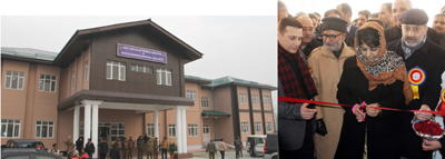 Chief Minister Mehbooba Mufti inaugurating building of Govt. College of Physical Education at Gadoora, Ganderbal on Saturday.