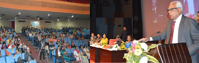 Governor N. N. Vohra addressing National Level Conference in Jammu on Sunday.