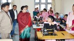 Minister of State for Education, Priya Sethi during inspection of a training center in Kathua on Friday.