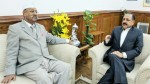 Governor of Sikkim, Shriniwas Patil calling on Union Minister Dr Jitendra Singh, at New Delhi.