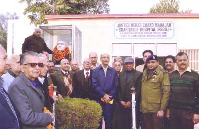 Dignitaries during birth anniversary celebration of Justice Mehar Chand Mahajan.