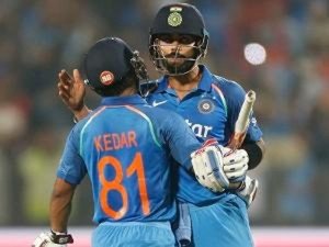 Kohli, Jadhav hit magical centuries to script sensational win