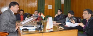 Dy Speaker for preparing DPRs for Achoora, Tulail Hydel Power projects