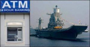 INS Vikramaditya gets onboard ATM