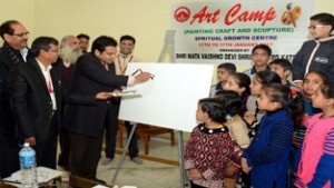 Shrine Board organizes  Art Camp for children