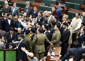 Oppn creates uproar, stages walk-out as  Speaker disallows adjournment motion